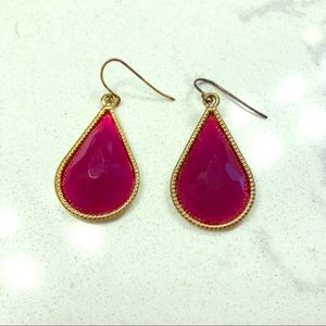 Burgundy tear drop earrings